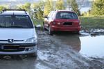 Andere hatten weniger Glück mit dem Parkplatz