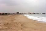Menschenleerer Strand am frühen Morgen vor unserer Unterkunft.